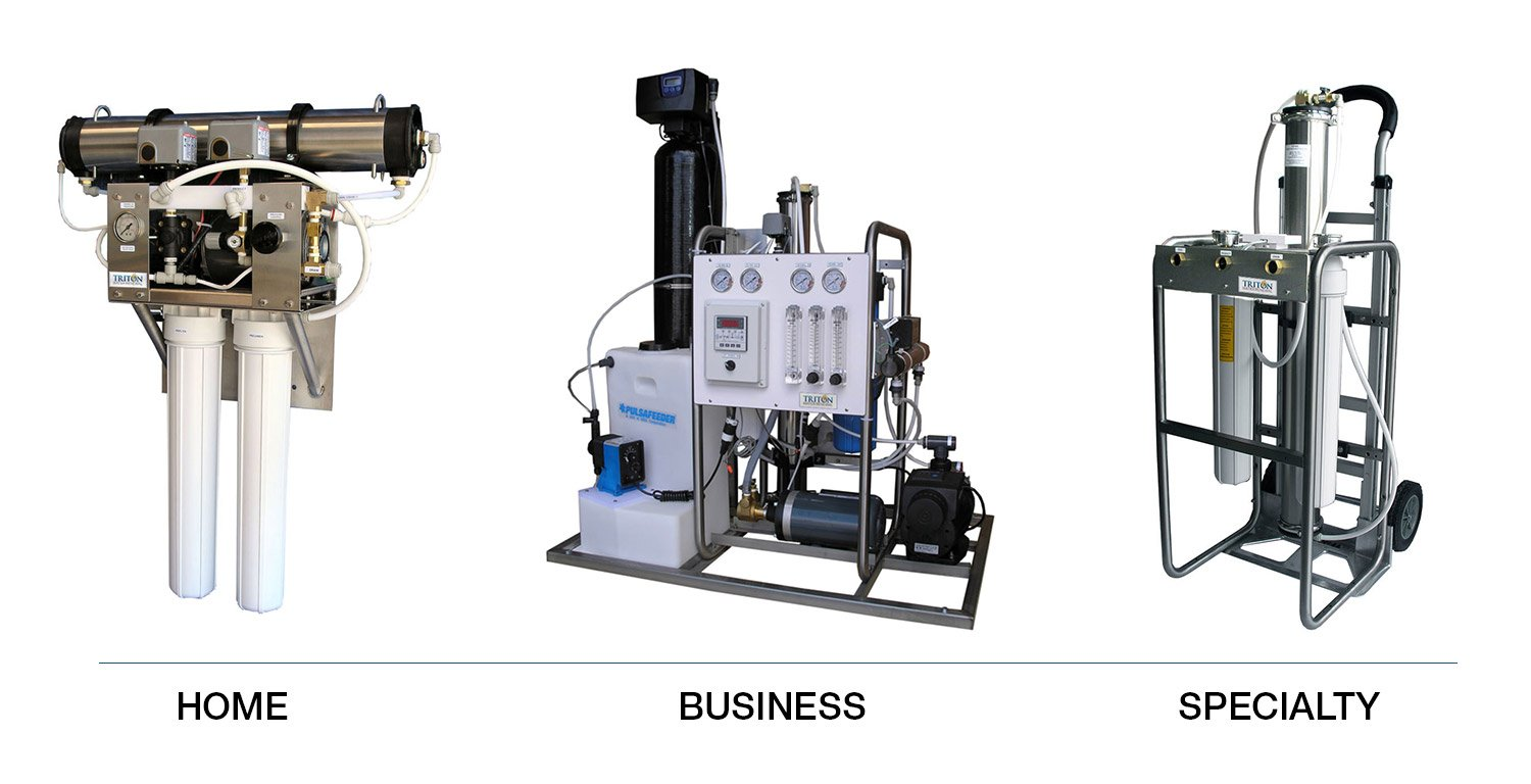 Triton Water Renewal, custom-built reverse osmosis water filtration systems